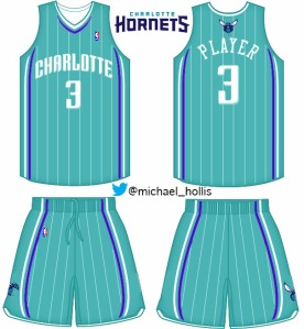Teal Hornets jersey done in photoshop