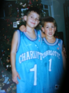 Circa 1995.  If you've ever seen 2 better lookin fellas in Hornets jerseys you were probably in heaven